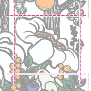 マリメッコ(marimekko)パラ・タイヴァスタ(Pala-Taivasta)の生地(ファブリック)詳細サイズ画像