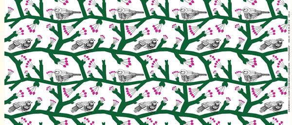 マリメッコ(marimekko)生地(ファブリック)ピックパッカネン(Pikkupakkanen)パナマ織り【10cm単位販売】の全体画像