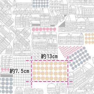 マリメッコ(marimekko)生地(ファブリック)プイストオサスト(Puisto osasto)の部分サイズ画像