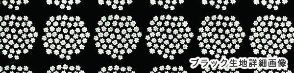 マリメッコ(marimekko)プケッティ(Puketti)ブラックの生地(ファブリック)詳細画像