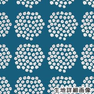 マリメッコ(marimekko)プケッティ(Puketti)ブルーの生地(ファブリック)全体画像