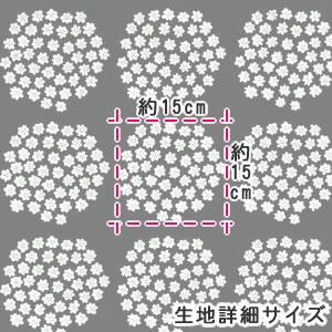 マリメッコ(marimekko)プケッティ(Puketti)ブラックの生地(ファブリック)詳細サイズ画像