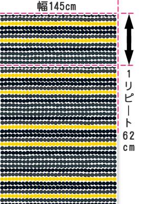 マリメッコ(marimekko)ラシィマット(Rasymatto)の生地(ファブリック)画像