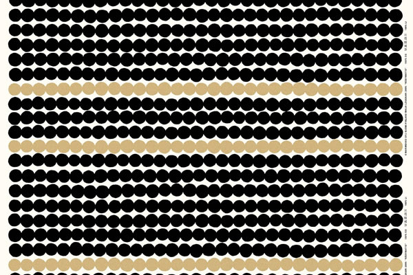 マリメッコ(marimekko)ラシィマット(Rasymatto)ゴールド(限定色)の生地(ファブリック)詳細画像