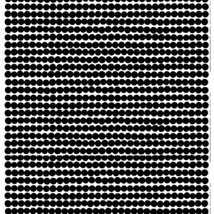 マリメッコ(marimekko)ラシィマット(Rasymatto)ブラックの生地(ファブリック)詳細画像