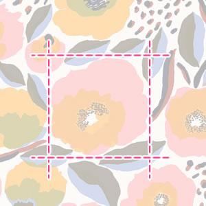 マリメッコ(marimekko)ロサリウム(Rosarium)の生地(ファブリック)の詳細サイズ画像