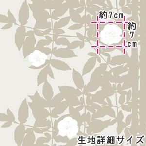マリメッコ(marimekko)ルースプー(Ruusupuu)ゴールドサテンの生地(ファブリック)詳細サイズ画像