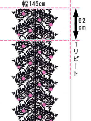 マリメッコ(marimekko)ルースプー(Ruusupuu)の生地(ファブリック)画像