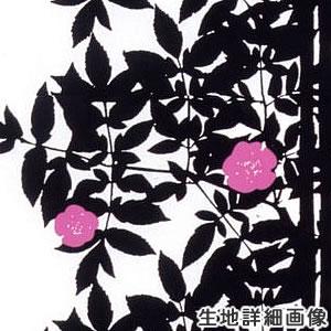 マリメッコ(marimekko)ルースプー(Ruusupuu)ブラックの生地(ファブリック)詳細画像