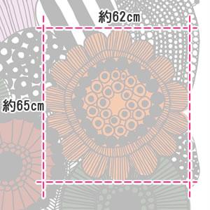 マリメッコ(marimekko)シィールトラプータルハ(Siirtolapuutarha)オータムマルチの生地(ファブリック)詳細サイズ画像