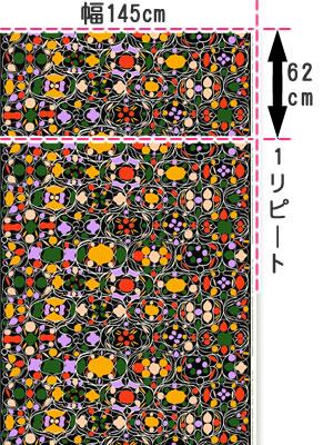 マリメッコ(marimekko)タルビパラツィ(Talvipalatsi)の生地(ファブリック)マルチの全体画像