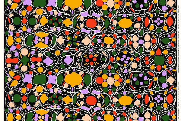 マリメッコ(marimekko)タルビパラツィ(Talvipalatsi)の生地(ファブリック)マルチの全体画像2