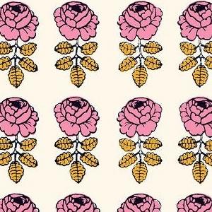 マリメッコ(marimekko)ヴィキルース(Vihkiruusu)ピンクの生地(ファブリック)詳細画像
