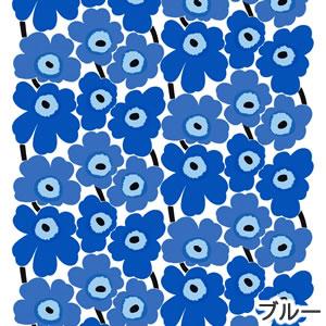 マリメッコ(marimekko)生地(ファブリック)ピエニウニッコ(Pieni Unikko)ブルーの画像