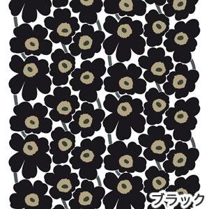 マリメッコ(marimekko)生地(ファブリック)ピエニウニッコ(Pieni Unikko)ブラックの画像