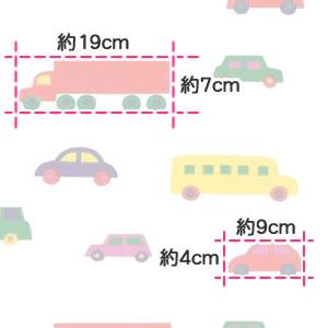 マリメッコ(marimekko)Pikku-BoBoo(ピックブブー)の生地(ファブリック)詳細サイズ画像