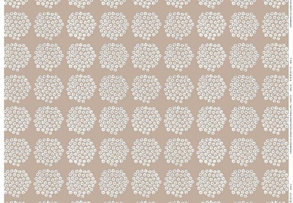 マリメッコ(marimekko)テーブルクロス(生地)プケッティ(Puketti)ベージュ【撥水加工/10cm単位販売】の1リピート全体画像