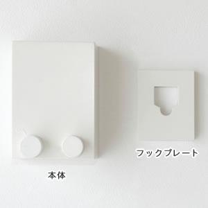 室内物干し 4m【おしゃれ/洗濯用品/デザイナーズ雑貨】の本体とフックプレート画像