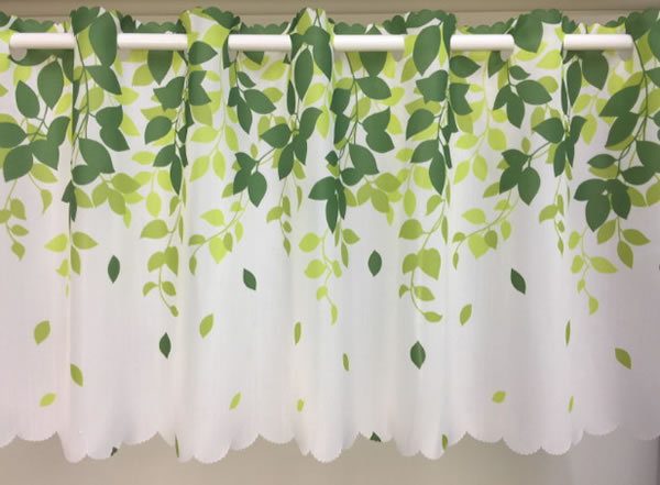 カフェカーテン モンパルナス 100×42cm【北欧インテリア】グリーンの全体画像