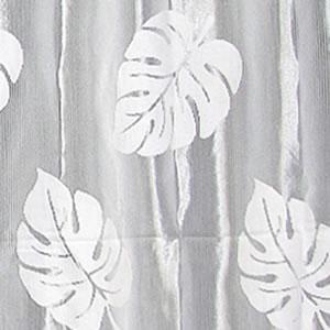 カフェカーテン モンステラ【ミラーレース/UVカット/ハワイアン】の詳細画像