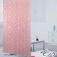 ファニーストリングカーテン サークル 95×176cm【パネルカーテン/北欧】ピンクの生地詳細画像