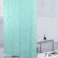 ファニーストリングカーテン サークル 95×176cm【パネルカーテン/北欧】ブルーの生地詳細画像