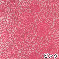 ファニーストリングカーテン ニューローズ 95×176cm【パネルカーテン/北欧】ピンクの生地詳細画像