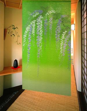 のれん 藤 85×150cm【パネルカーテン】の使用画像