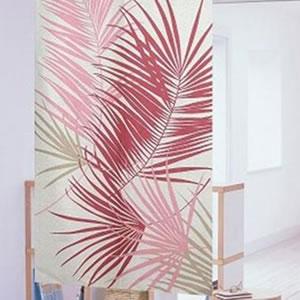 防炎レース のれん ロマリア 82×150cm ピンクの詳細画像