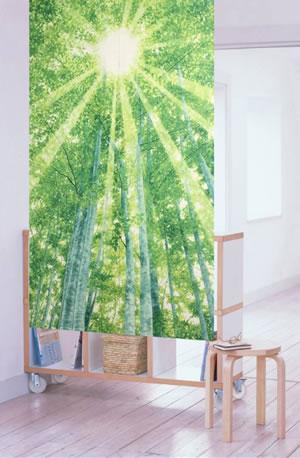 遮熱のれん 白樺 85×150cm【パネルカーテン/北欧風】の使用画像