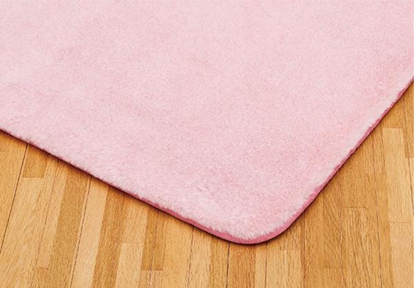 低反発ラグマット ミーテ2【極厚/おしゃれ】ピンクの全体画像