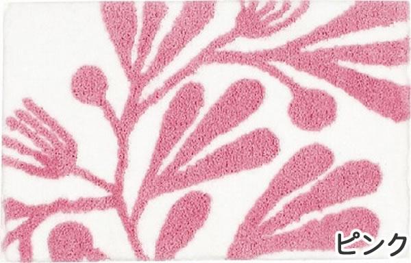 玄関マット エルド【マイクロファイバー/北欧インテリア】ピンクの全体画像