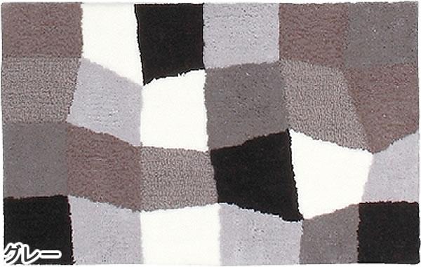 玄関マット モーダ【おしゃれ/北欧インテリア】グレーの全体画像