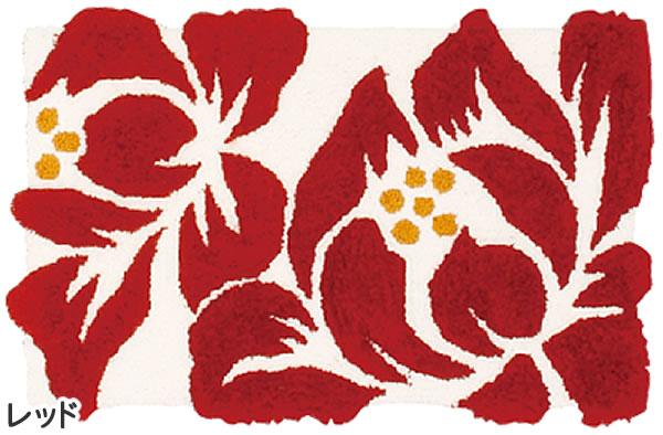 玄関マット リノ【おしゃれ/北欧インテリア】レッドの全体画像