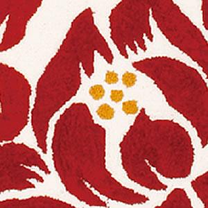 玄関マット リノ【おしゃれ/北欧インテリア】レッドの詳細画像