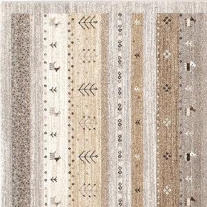 ウィルトン織り ラグマット ブリンク【ギャベ/ヴィンテージ】グレーの詳細画像