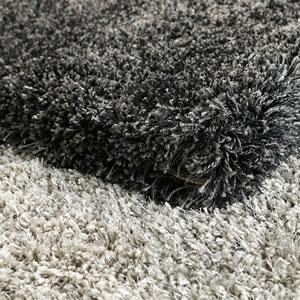 ウィルトン織り ラグマット コンフォール【おしゃれ】グレーとブラックの詳細画像