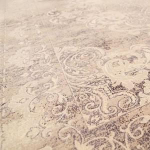 ウィルトン織り ラグマット デヴァン【ヴィンテージ/ペルシャ】ライトグレーの詳細画像