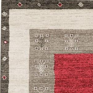 ウィルトン織り ラグマット ヴォルテ【ギャベ/ヴィンテージ】レッドの詳細画像