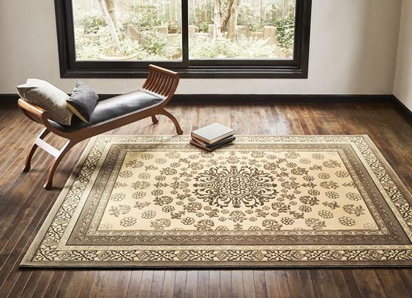 ウィルトン織り ラグマット バーバーウィルトン【ペルシャ絨毯】T01の使用画像