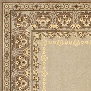 ウィルトン織り ラグマット バーバーウィルトン【ペルシャ絨毯】T02の詳細画像