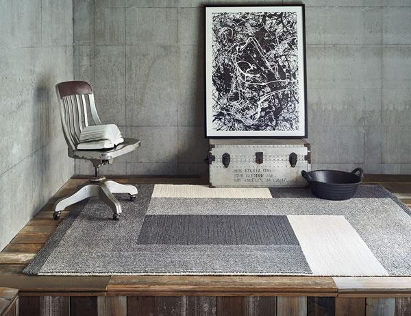 ウィルトン織り ラグマット コンラッド【おしゃれ/インテリア】グレーの使用画像
