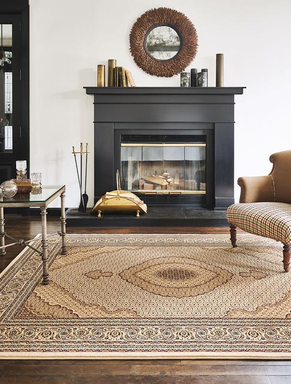 ウィルトン織り ラグマット クラウン【ペルシャ絨毯】ベージュの使用画像