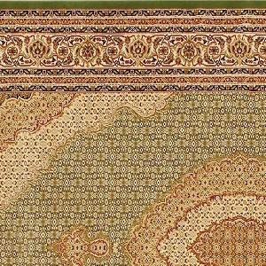 ウィルトン織り ラグマット クラウン【ペルシャ絨毯】グリーンの詳細画像