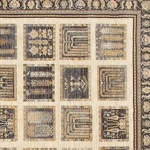 ウィルトン織り ラグマット マゼラン【ギャベ絨毯】ベージュの詳細画像