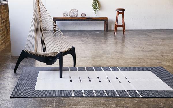 ウィルトン織り ラグマット トレンツ【北欧/おしゃれ】ブラックの使用画像
