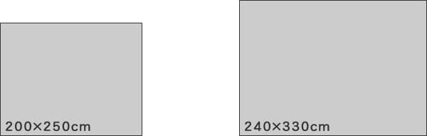 ウィルトン織り ラグマット フローラル【おしゃれ/ヴィンテージ】のサイズバリエーション画像
