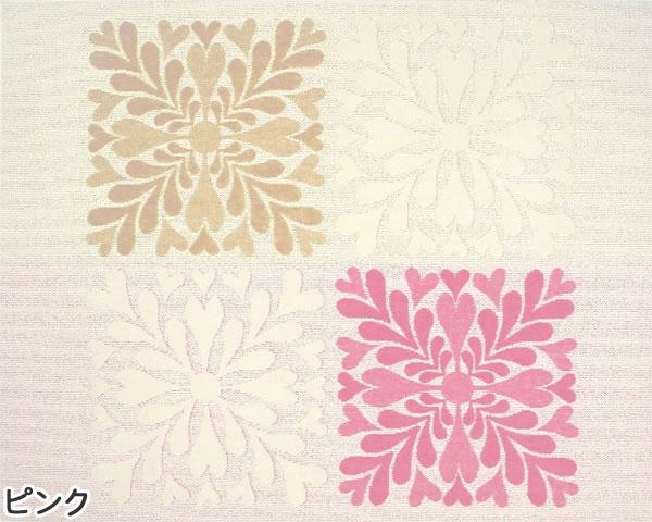 タフテッド ラグマット リリア【洗える/おしゃれ】ピンクの全体画像