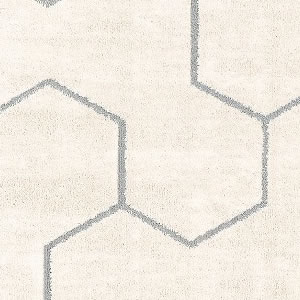 タフテッド ラグマット ゼクス【洗える/おしゃれ】ホワイトの詳細画像