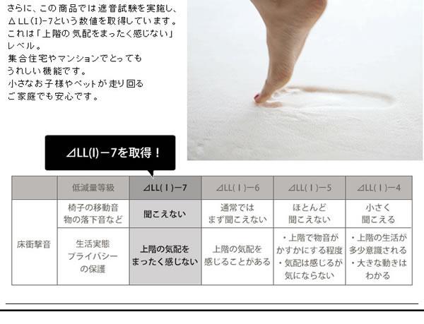 低反発高反発フランネル マット TS101【おしゃれ/洗える】の昇温画像